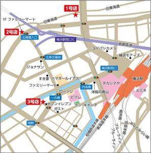 3店舗のオリジナル地図